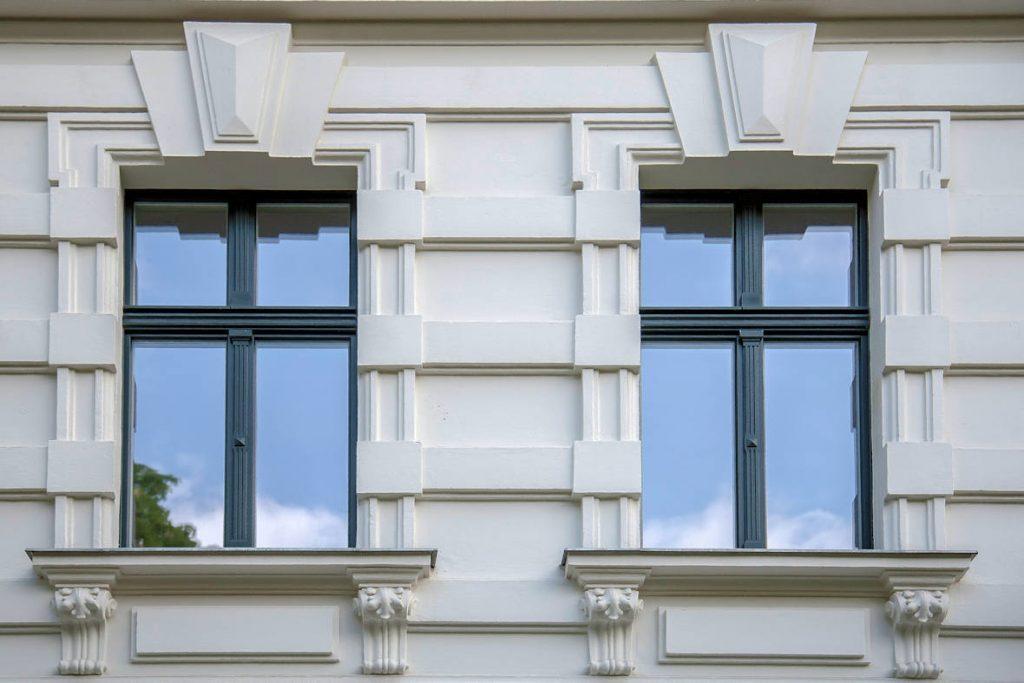 Schmale und filigrane Durchschusshemmende Sicherheitsfenster