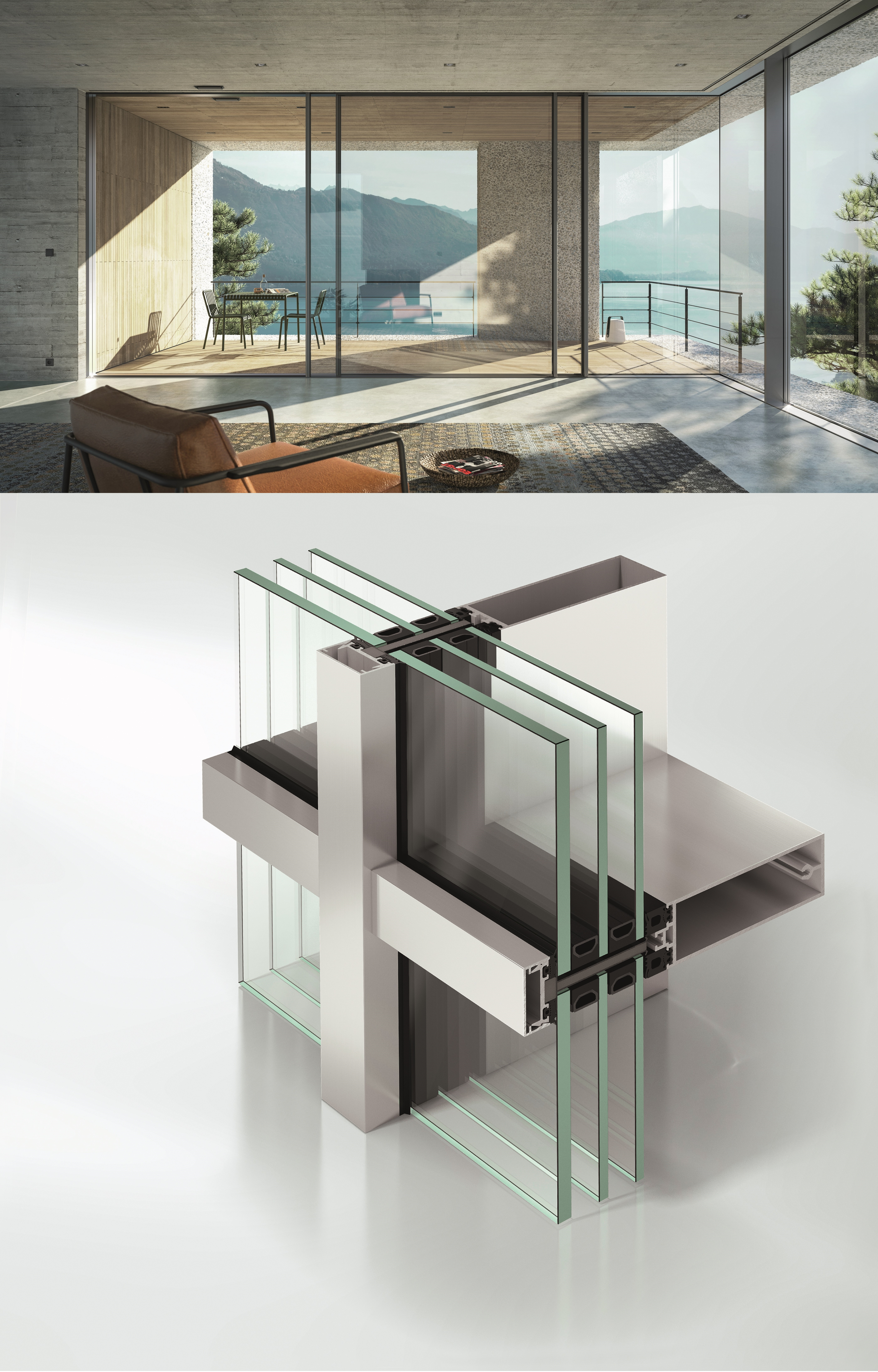 Schüco, Pfosten-Riegel-Fassade, Fassadensysteme, Aluminium Fassade