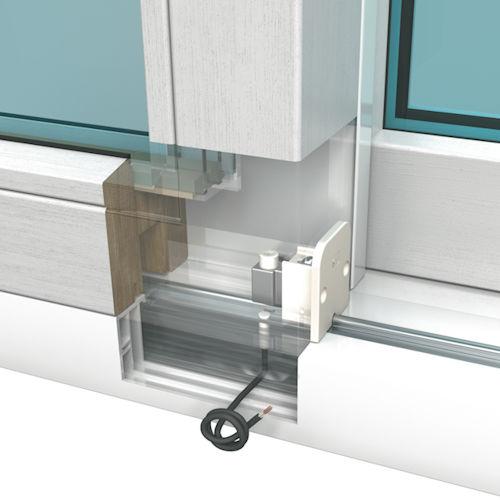 Gegen Einbruch schützen Magnetkontakt mit zusätzlicher Sabotagelinie