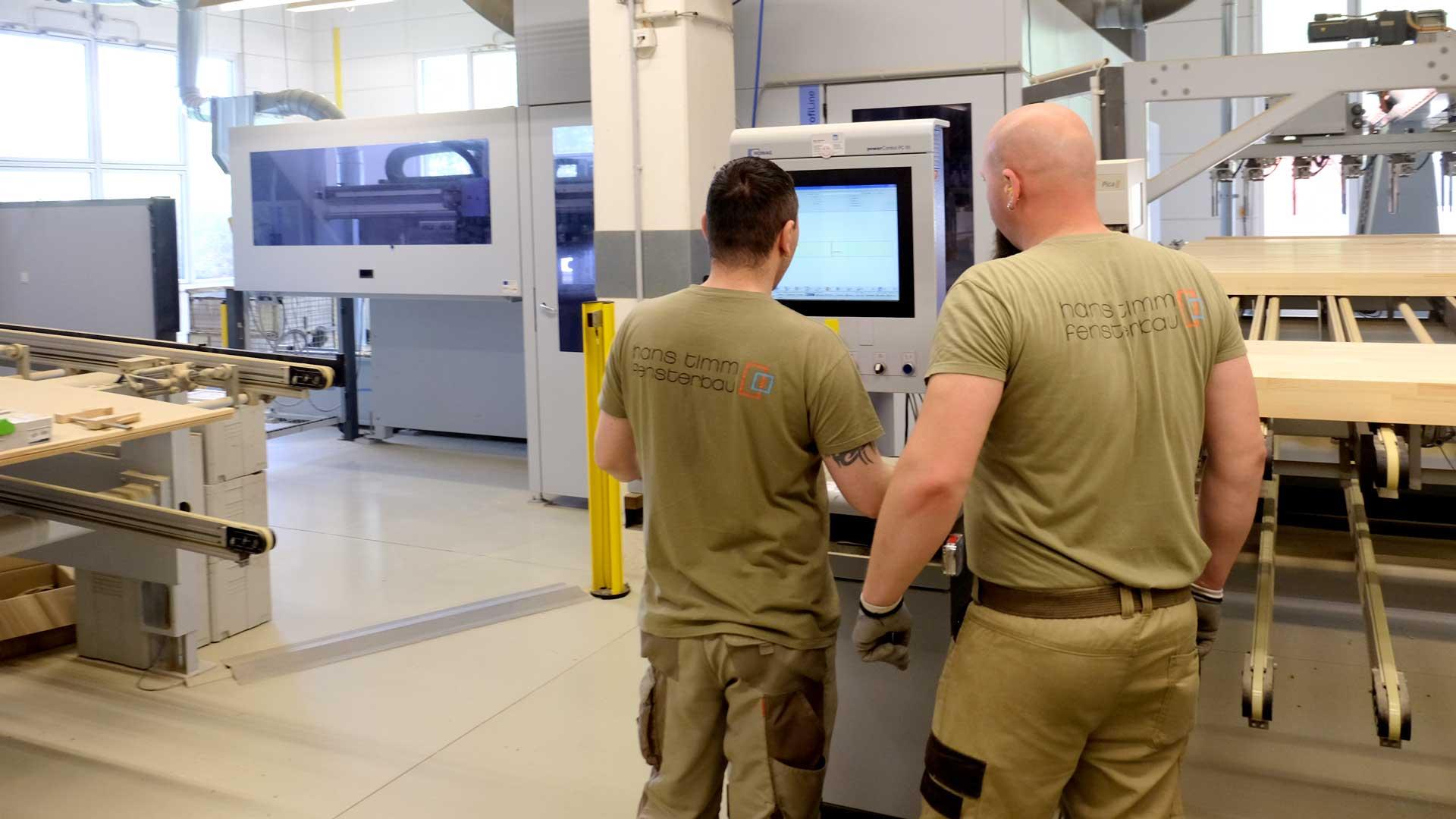 Timm Fensterbau, Karriere: CNC-Maschine