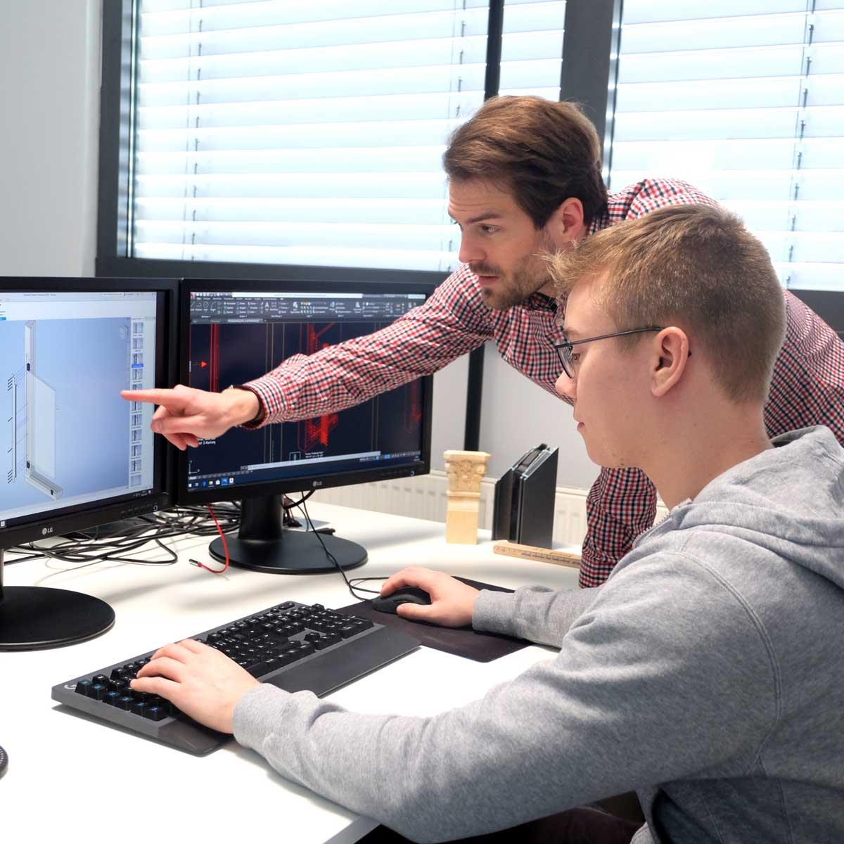 Timm Fensterbau, Karriere: Technischer Designer, Azubi